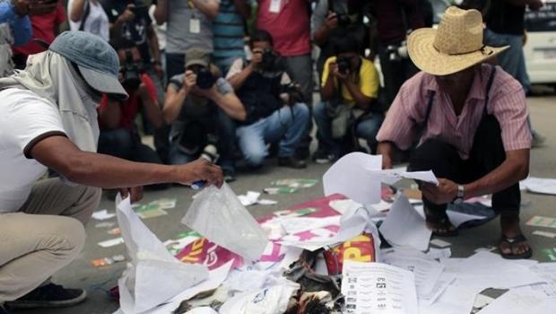 Manifestantes   Foto: Pedro Pardo (AFP)