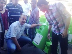 Paulo Garcia durante entrega de carros e equipamentos da Comurg | Foto: Divulgação