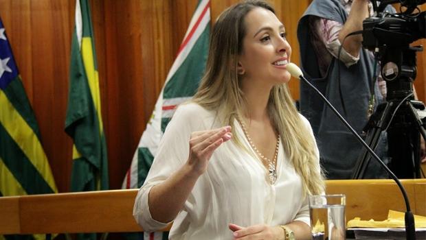 Vereadora apresentou proposta na sessão desta quarta-feira Foto: Reprodução/Câmara