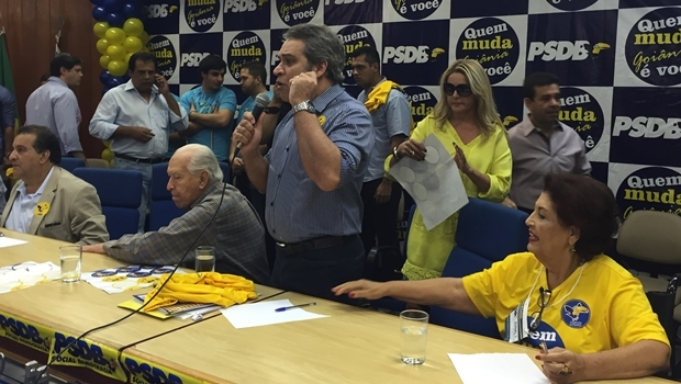 Tibúrcio discursa durante convenção do PSDB Metropolitano de Goiânia | Foto: Alexandre Parrode / Jornal Opção