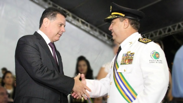 O governador Marconi Perillo e o comandante geral da PM em Goiás, coronel Silvio Benedito Alves | Foto: Reprodução/Facebook