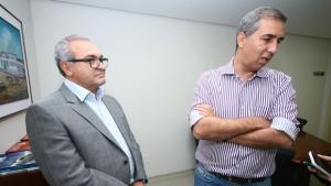 José Eliton aproveitou a oportunidade para responder algumas demandas do prefeito de Trindade para a cidade  | Foto: Fernando Leite / Jornal Opção