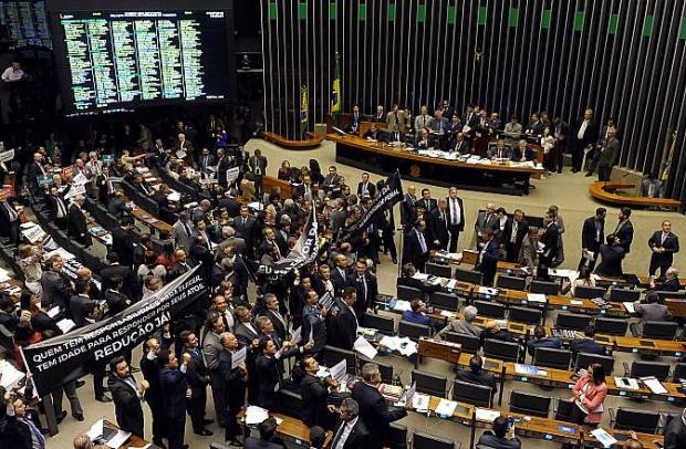 Plenário da Câmara dos Deputados aprova redução da maioridade penal: mais polêmica para um problema grave | Foto: Luis Macedo/Câmara dos Deputados