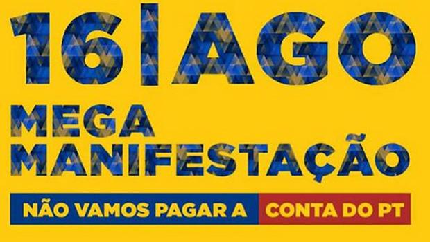 Grupos organizam protesto contra Dilma para o dia 16 de agosto