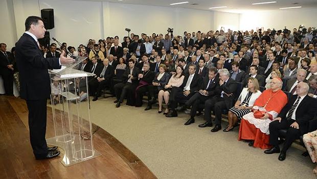 Marconi Perillo citou nome de Jayme Rincón cinco vezes em discurso | Foto: Rodrigo Cabral/Governo de Goiás
