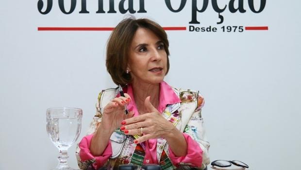 Secretária Raquel Teixeira visitou o Jornal Opção nesta terça-feira (7/7) | Foto: Fernando Leite / Jornal Opção