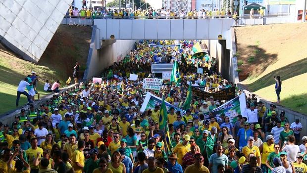 Veja fotos da manifestação que reuniu 10 mil pessoas em Goiânia