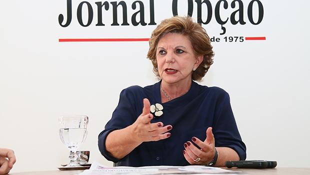 Senadora Lúcia Vânia em entrevista ao Jornal Opção | Fotos: Fernando Leite