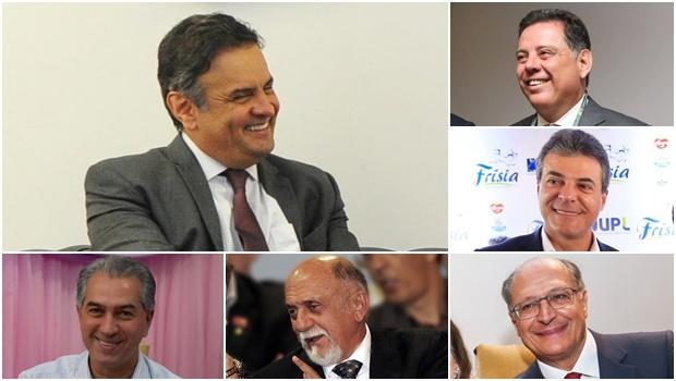 Governadores tucanos se unem a Aécio para campanha de filiação nacional ao PSDB