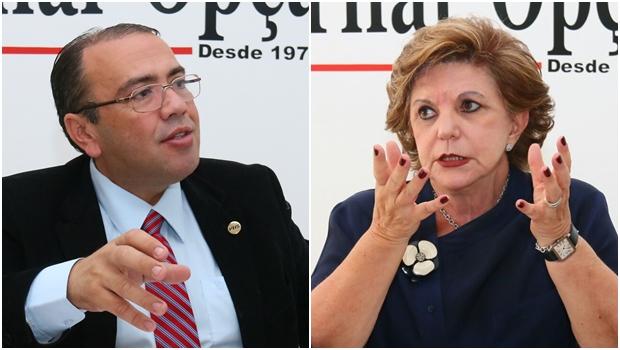 Eduardo Machado, presidente do PHS, e a senadora Lúcia Vânia (Sem partido): janela terá dificuldade no Senado | Fotos: Fernando Leite / Jornal Opção