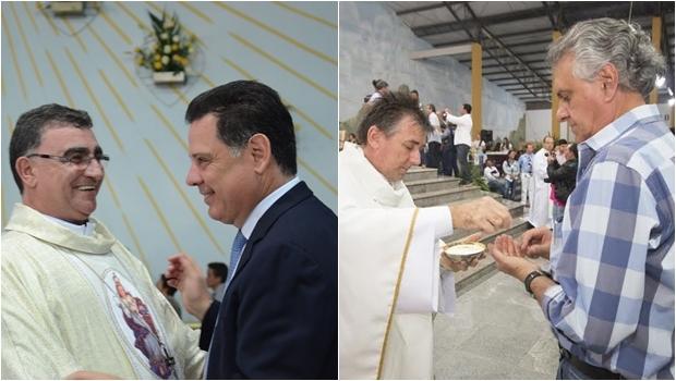 Marconi e Caiado são abençoados no Muquém | Foto: Wagnas Cabral e Leandro Vieira