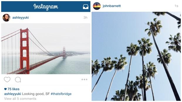 Instagram agora vai aceitar fotos verticais e horizontais