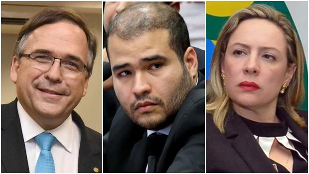 Sandro Mabel, Lucas Vergílio e Adriana Accorsi: PMDB, SD e PT para vice de Iris | Fotos: reprodução / Facebook
