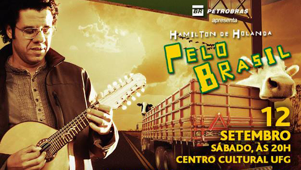 "Hamilton de Holanda, o ""Jimi Hendrix do bandolim, se apresenta em Goiânia"
