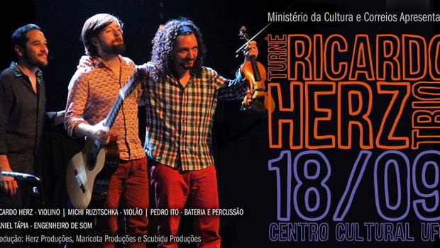 O violino reinventado de Ricardo Herz, instrumentista se apresenta no CCUFG