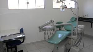 Consultório odontológico montado na nova unidade de saúde