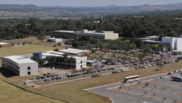 Imagem aérea da UFG, a melhor de Goiás | Foto: reprodução