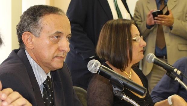 Presidente Anselmo Pereira e a secretária Neyde Aparecida durante audiência nesta terça | Foto: Câmara Municipal