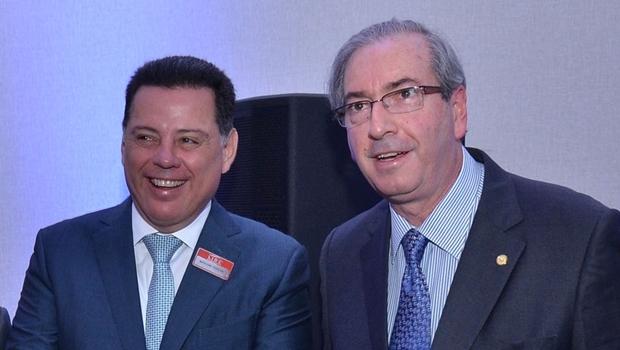 Governador Marconi e presidente Eduardo Cunha | Foto: Eduardo Ferreira