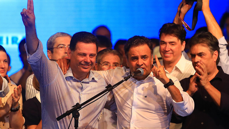 """Aécio Neves: """"Marconi Perillo é o melhor governador do Brasil"""""""