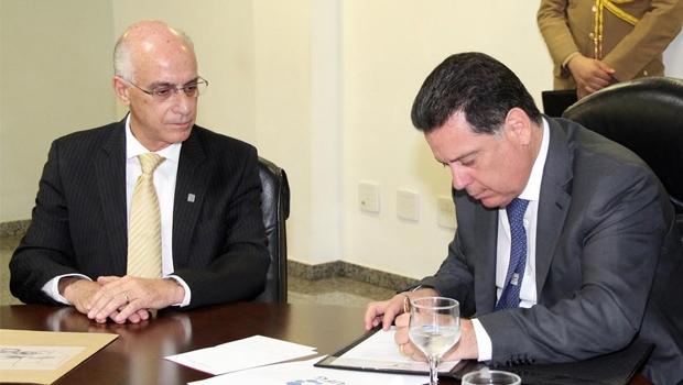 Reitor da UFG, Orlando Amaral, e governador de Goiás, Marconi Perillo | Divulgação