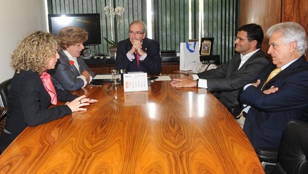 Marcos Abrão e Lúcia Vânia se reúnem com Cunha para viabilizar projeto