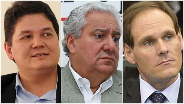 Heuler Cruvinel, Vilmar Rocha e Lissauer Vieira | Fotos: Fernando Leite / Jornal Opção