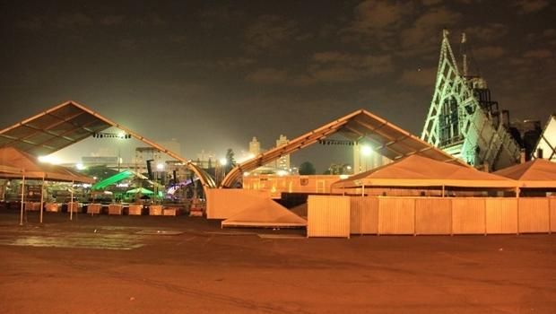 Vista do palco do festival Villa Mix, que ainda não tem alvará de funcionamento   Foto: reprodução / Prefeitura