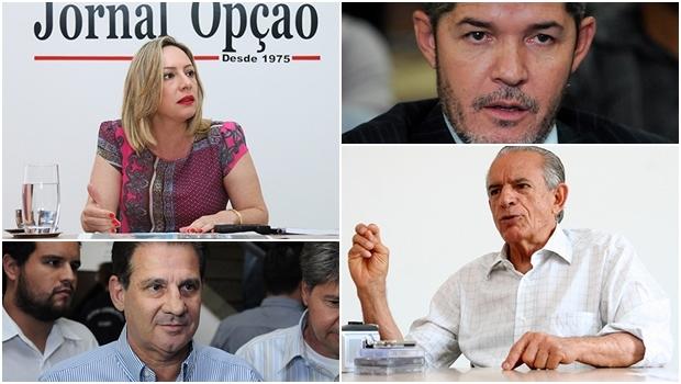 Iris Rezende, Vanderlan Cardoso, Delegado Waldir e Adriana Accorsi:hoje são os favoritos para Goiânia e vai ganhar em 2016 quem conseguir mais fôlego. Isso se não aparecer alguém que sequer está entre os cotados