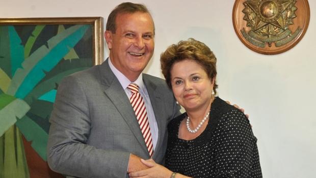 Prefeito Paulo Garcia e a presidente Dilma Rousseff | Foto: José Cruz/ABr