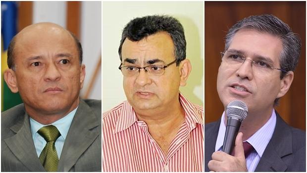 Ex-secretários Lívio Luciano (PMDB), Jeová Alcântara (PT) e Francisco Jr. (PSD) podem ser acionados | Fotos: Y. Maeda e PUC Goiás