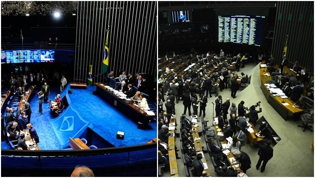 No Senado, uma coisa; Na Câmara, outra | Fotos: Jonas Pereiras e Wilson Dias