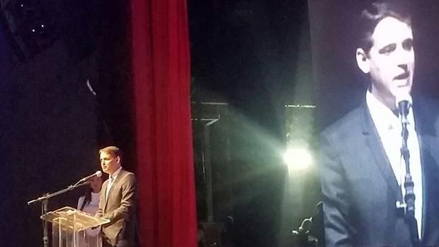 Thiago Peixoto discursa durante apresentação do Inova Goiás | Foto: reprodução / Facebook