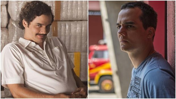 """Ator na série """"Narcos"""" (à esq.) e no filme """"Praia do Futuro"""""""