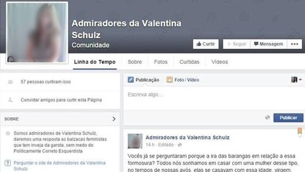 Até o fechamento da matéria, o Facebook já havia retirado a página do ar | Foto: Reprodução