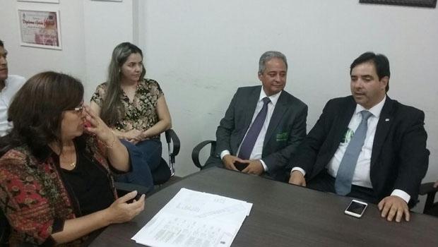 Buonaduce em reunião com prefeita da Cidade de Goiás