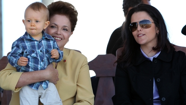 Presidente Dilma, com o neto e a filha | Foto: Ricardo Stuckert Filho