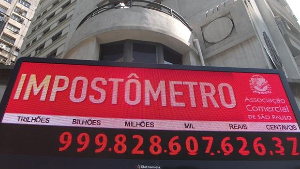 Impostômetro: a carga tributária brasileira é uma das mais brutais do planeta, mas o governo quer mais e mais   Divulgação