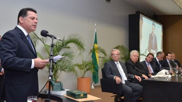 Governador Marconi durante discurso   Foto: Eduardo Ferreira
