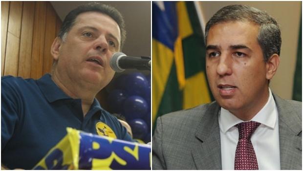 Marconi Perillo: governador é um dos vários adversários de Caiado/ José Eliton: vice-governador deixou o DEM pelo PP, agora está no PSDB | Foto: Leoiran/ Foto: Fernando Leite/ Jornal Opção
