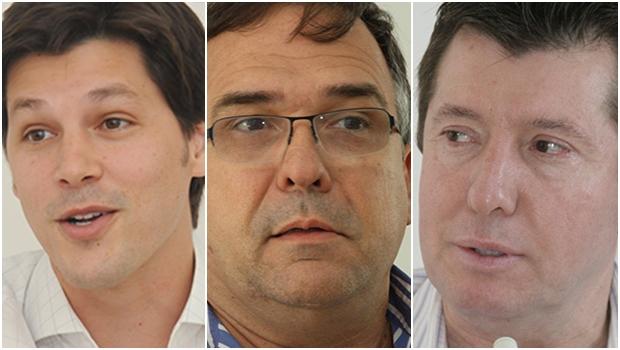 José Nelto, Daniel Vilela e Sandro Mabel: os pretensos candidatos à presidência do PMDB goiano