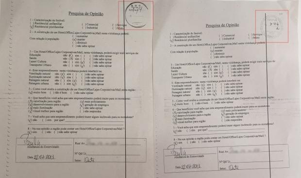Formulários iguais (clique para ampliar a imagem)