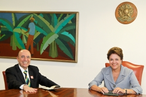 Bras'lia - DF, 14/03/2011. Presidenta Dilma Rousseff com Henrique Meirelles. Foto: Roberto Stuckert Filho/PR.