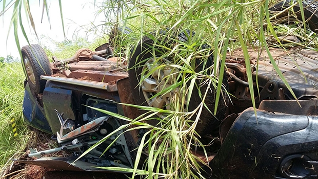 Andarilho descobriu acidente com duas vítimas fatais | PRF /Divulgação