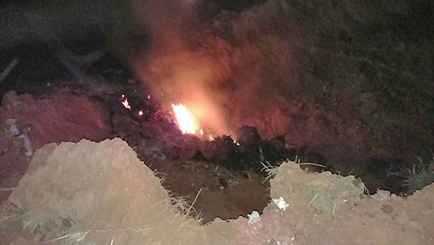 Aeronave ficou completamente destruída | Corpo de Bombeiros/Goiás