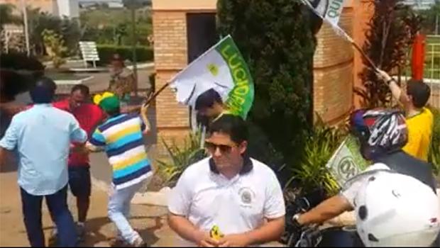 Vídeo mostra confusão entre apoiadores de Lúcio Flávio e Enil