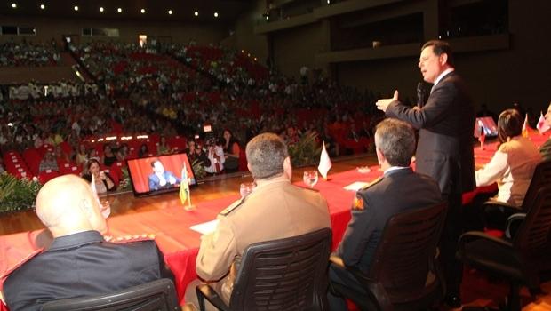 Marconi discursa durante abertura do evento | Foto: Ascom Governo de Goiás