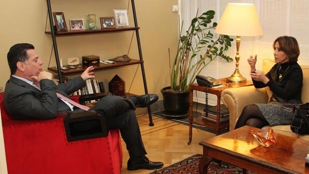 Governador Marconi Perillo e a secretária Raquel Teixeira na Europa | Foto: Marcos Villas Boas