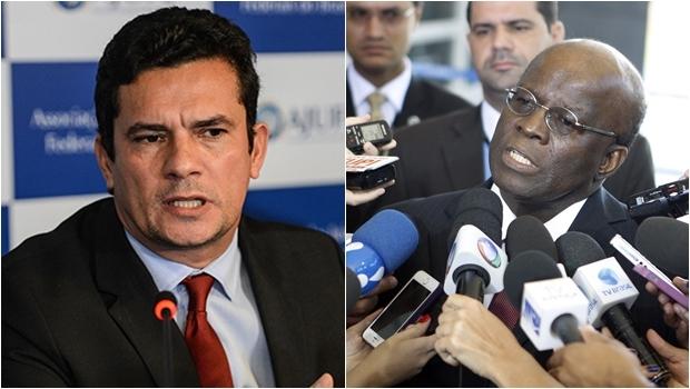 Ex-ministro do Supremo Joaquim Barbosa e juiz federal Sérgio Moro: heróis por fazerem o que é certo