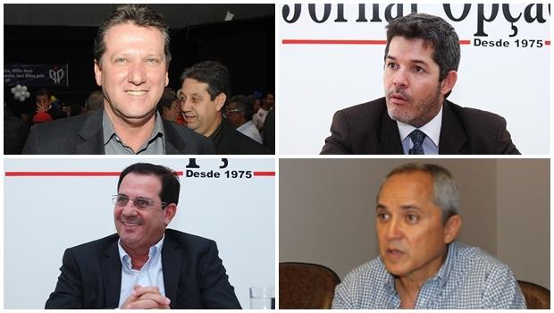 Giuseppe Vecci, Vanderlan Cardoso, Luiz Bittencourt, Waldir Soares terão de pisar forte na pré-campanha